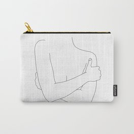 Woman's figure line drawing artwork - Dara Carry-All Pouch