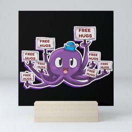 Squid Octopus Free Hugs Mini Art Print