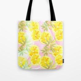 Leafy Orange Print Tote Bag