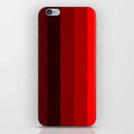 red stripes home decor iPhone Skin