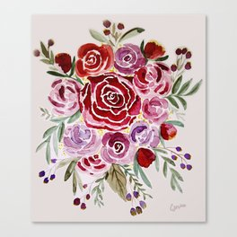Floral Love Canvas Print
