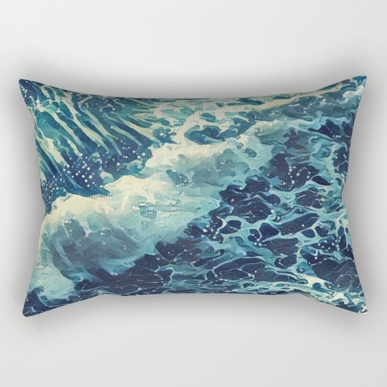 Every tide hath its ebb Rectangular Pillow