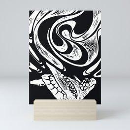 Sink or Swim Sea Turtle Mini Art Print