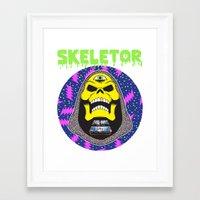 skeletor Framed Art Prints featuring Skeletor by Michael Keene