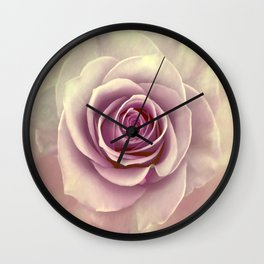 Tea Rose Painterly Abstract Wall Clock