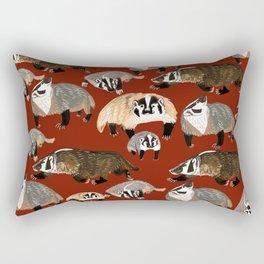 Western American Badger Rectangular Pillow