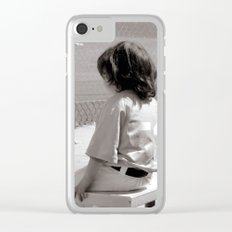Little Baseball Brother Clear iPhone Case