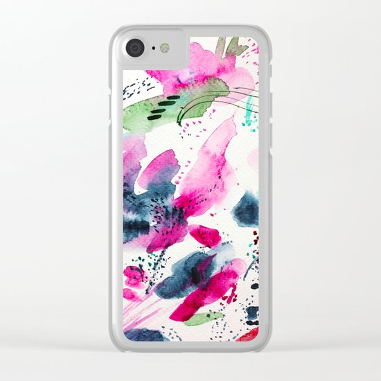 Floral abstraction #2 || watercolor Clear iPhone Case
