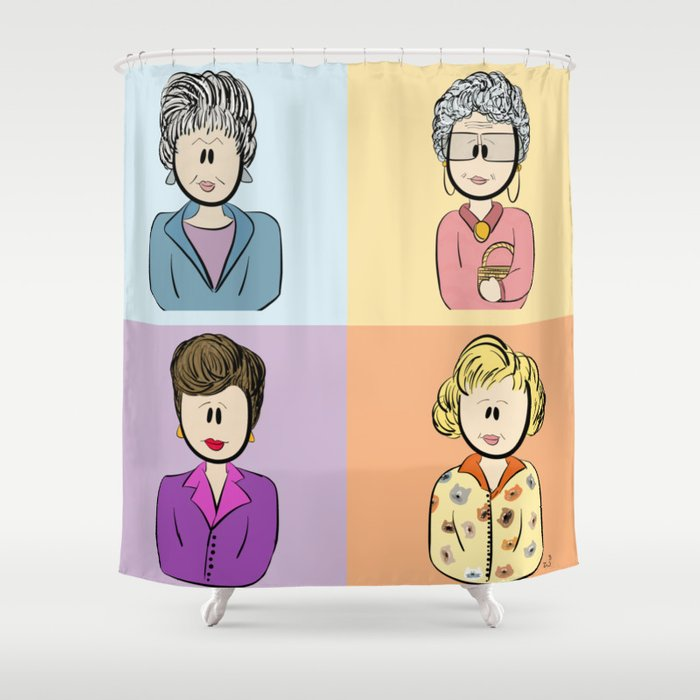 Golden Girls Character Combo Shower Curtain