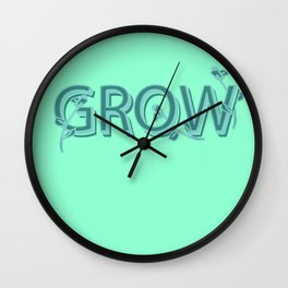 Just One Word: Grow Wall Clock