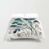 emerald Duvet Covers featuring Emerald by Tonya Doughty