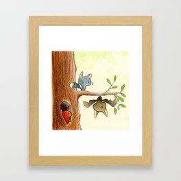 Cute friends Framed Art Print
