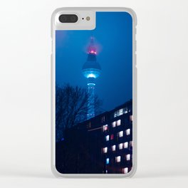 Berlin TV Tower at Night Clear iPhone Case