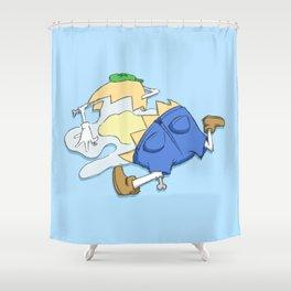 Beyond Repair Dumpty Shower Curtain