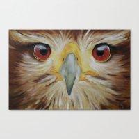 hawk Canvas Prints featuring Hawk by unkz87