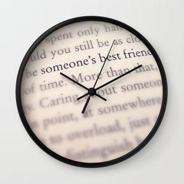 Someone's Best Friend Wall Clock