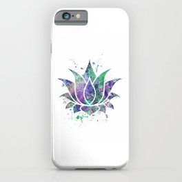 Lotus Flower Art Colorful Pastel Watercolor Gift Egyptian Flower Lotus Blossom Flowers Art Gift iPhone Case