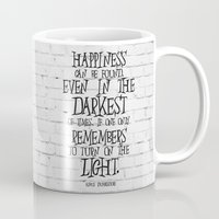 dumbledore Mugs featuring Albus Dumbledore Quote Inspirational by Go Art