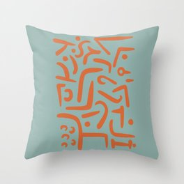 Modern poster Paul Klee - Growth Stirs, 1938. Throw Pillow
