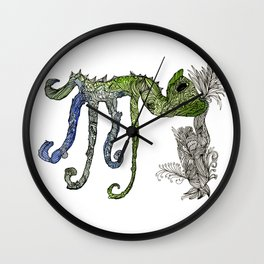 Cameleon Toe Wall Clock