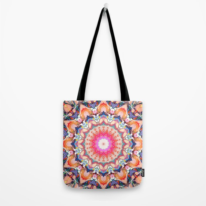 Colorful Flower Abstract Tote Bag