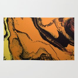 Dirty Acrylic Pour Painting 07, Fluid Art Reproduction Abstract Artwork Rug