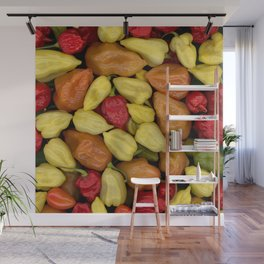 Hot Peppers Wall Mural