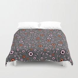 Floral Vibes - Dark Shades Duvet Cover