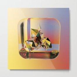 Refraction Jewel Metal Print
