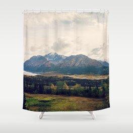 Fall Alaskan Mountain Crisp Landscape Shower Curtain