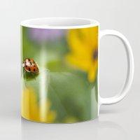 ladybug Mugs featuring Ladybug by Christina Rollo