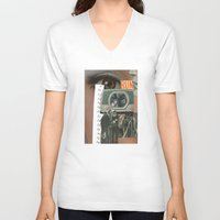 run V-neck T-shirts featuring Run....... by Michael Harford