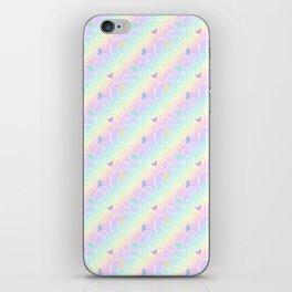 Springtime Butterfly Swirls iPhone Skin