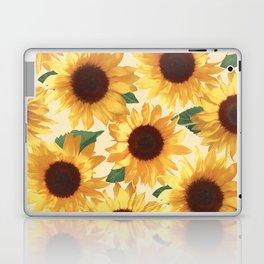 Happy Yellow Sunflowers Laptop & iPad Skin
