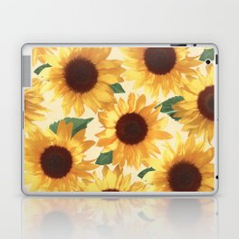 Happy Yellow Sunflowers Laptop & iPad Skin