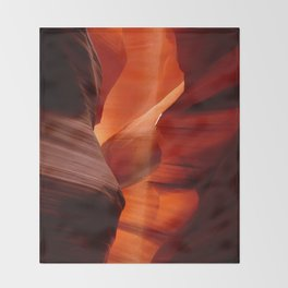 Marvelous Antelope Canyon Colors Throw Blanket