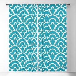 Fan Pattern Turquoise 105 Blackout Curtain
