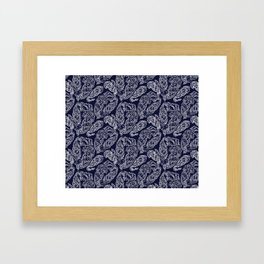 Cosmic Paisley Navy Blue Framed Art Print