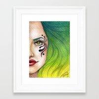 fierce Framed Art Prints featuring Fierce  by StaceyPatinoArt