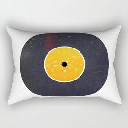 Vinyl Record Star Sign Art | Leo Rectangular Pillow