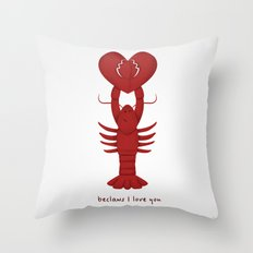 Loving Lobster Throw Pillow