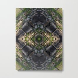Fantasy Aerial View of Pyramid Metal Print