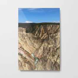 Yellow Rocks Of Yellowstone River Valley Metal Print