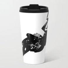 Time To Be Board Silhouette Metal Travel Mug