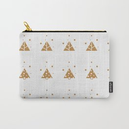Abstract Trees Winter Pattern White Carry-All Pouch