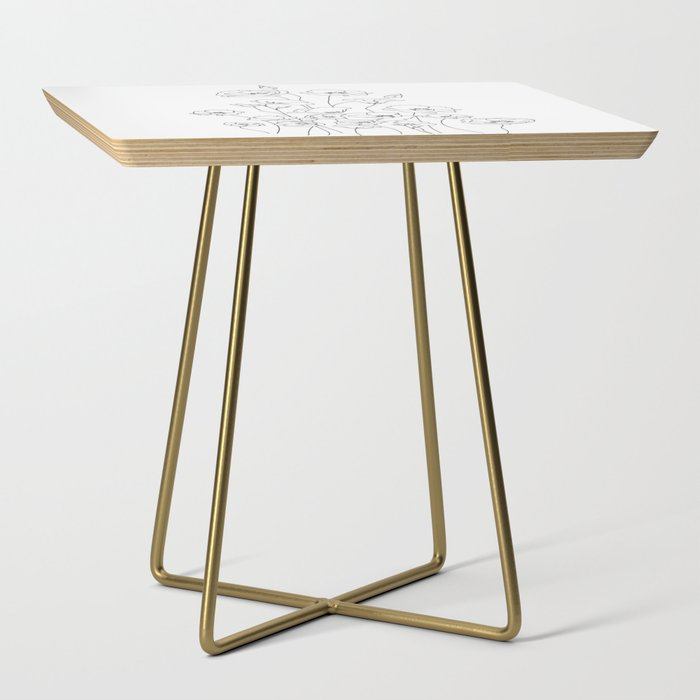 Poppy_Flowers_Line_Art_Side_Table_by_Nadja__Gold__Square