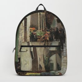 Ghetto Di Firenze 1882 By Telemaco Signorini | Reproduction | Italian Painter Backpack