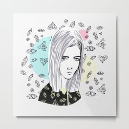 you are my geometric desire... Metal Print
