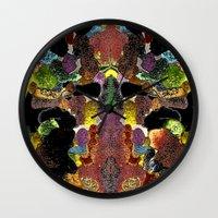 metallic Wall Clocks featuring metallic by gasponce