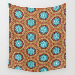 blue stitches Wall Tapestry